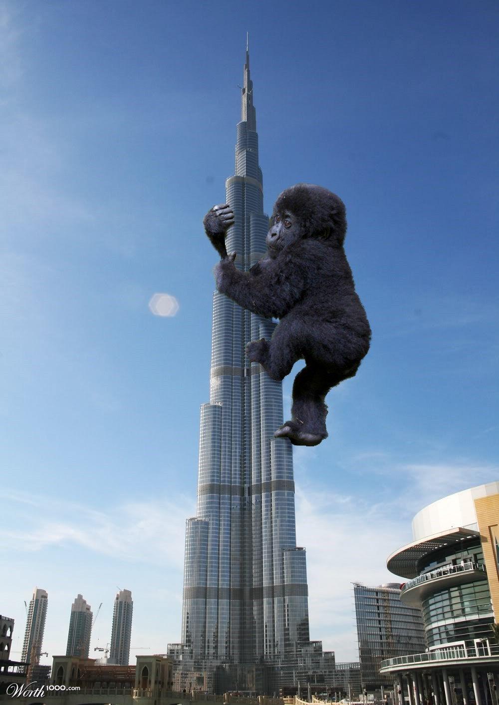 Исмаил Шангареев - Фотоколлаж кинг-конг в ОАЭ
