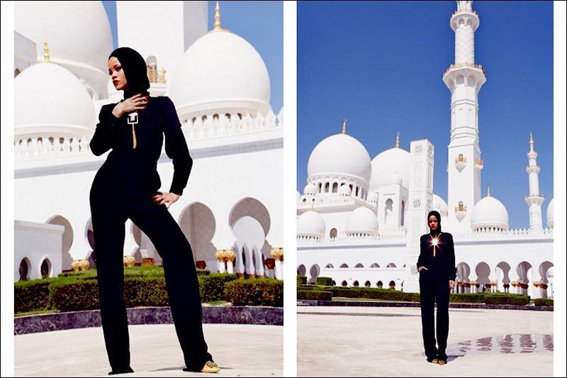 Исмаил Шангареев - фото Рианы в ОАЭ